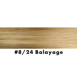 """Tape-in Hair Extensions, Color #8/24, 18"""" Long, Straight, 10pcs, Balayage"""