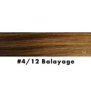 """Tape-in Hair Extensions, Color #4/12, 22"""" Long, Straight, 10pcs, Balayage"""