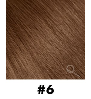 """Tape-in Hair Extensions, Color #6, 22"""" Long, Straight, 10pcs"""