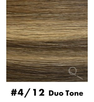 """ape-in Hair Extensions, Color #4/12, 14"""" Long, Straight, 10pcs, Duo Tone"""