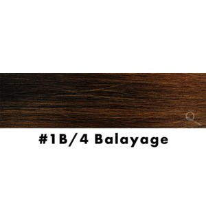 """Tape-in Hair Extensions, Color #1B/4, 14"""" Long, Straight, 10pcs, Balayage"""