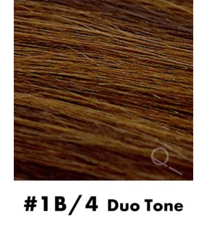 """Tape-in Hair Extensions, Color #1B/4, 14"""" Long, Straight, 10pcs, Duo Tone"""