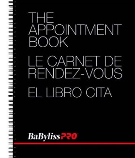 BABYLISSPRO appointment book with 4 columns