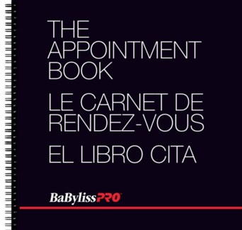 BABYLISSPRO appointment book with 6 columns