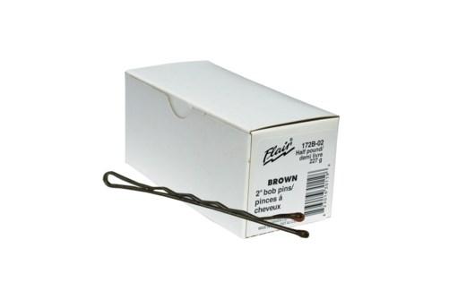 """Bobby Pins 2"""" 1/2lb box BROWN"""