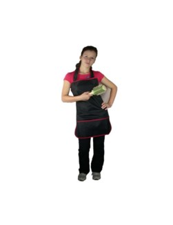 Cutting Apron w. black w. red trim