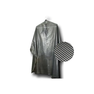 Reversible cutting/shamp cape. Iridescent