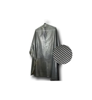 Reversible cutting/shamp cape. Iridescent