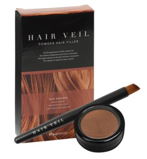 Hair Veil Red Brown