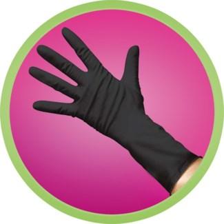 Powder Free Black Vinyl Gloves - MED