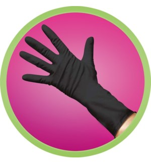 Powder Free Black Vinyl Gloves - MED