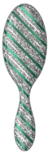 Detangler Original Glamour Green Silver Stripe