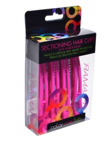 Elastic Sectioning Clips Pink