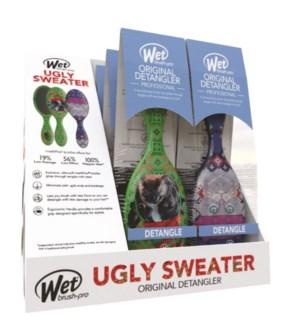 Ugly Sweater Wetbrush Display 6pc