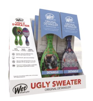 Ugly Sweater Wetbrush Display 6pc