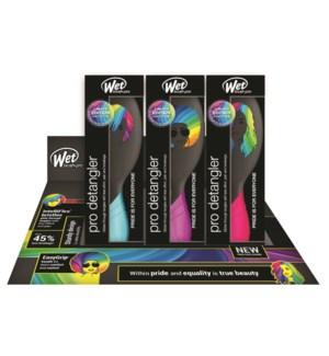 Wet Brush Pro Detangler 9pc Pride Display