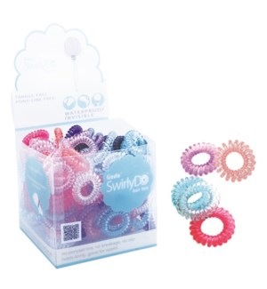 SwirlyDo Hair Ties in display (144 pce) - Bright