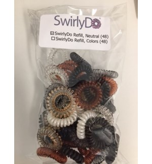 SwirlyDo Hair Ties (48 pce) - Neutral