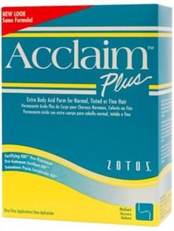 ACCLAIM ACID PLUS PERM X BODY - green & yellow box