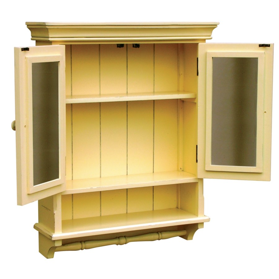 PROVINCIAL MIRRORED CABINET - YLW
