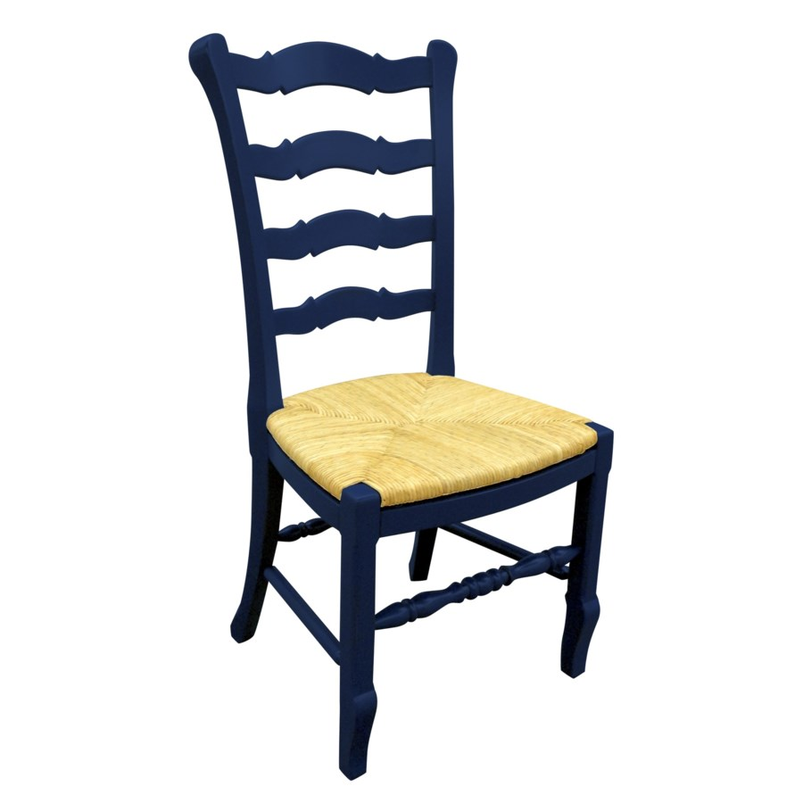 PROVENCE LADDER - BACK SIDE CHAIR -  WHT