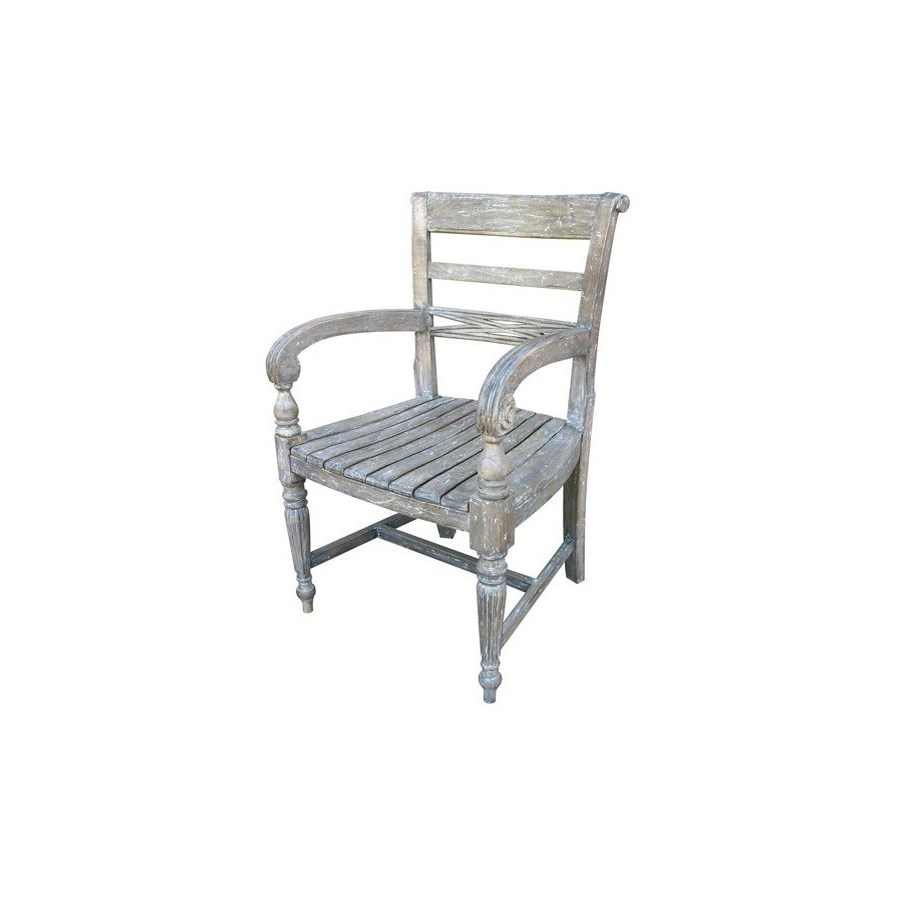 RAFFLES ARM CHAIR - RW+/WHT+
