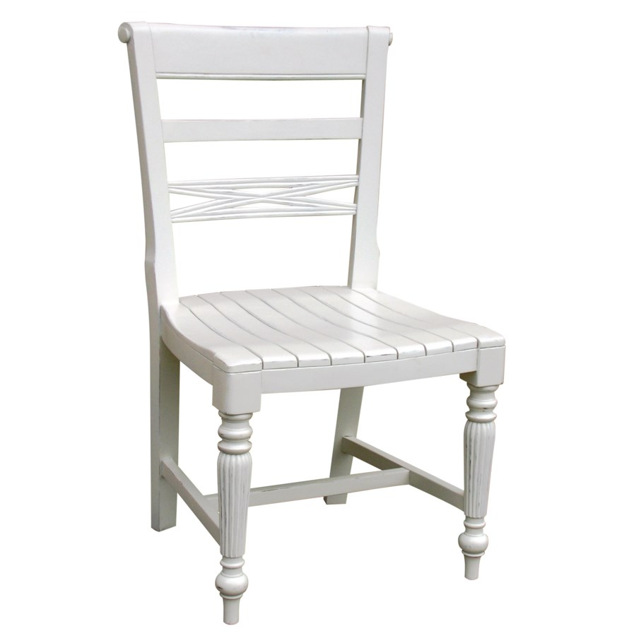 RAFFLES  SIDE CHAIR - WHT