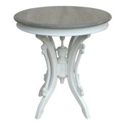 VICTORIAN TEA TABLE -  WHT/RW+