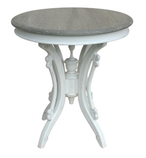 VICTORIAN TEA TABLE -  WHT/RW+
