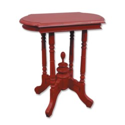 VICTORIAN SIDE TABLE - RED