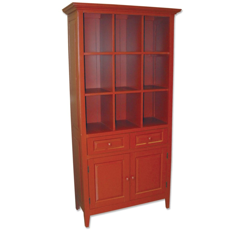 DISPLAY & STORAGE CABINET - RED