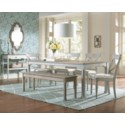 HARBORTON DINING TABLE -  WHT