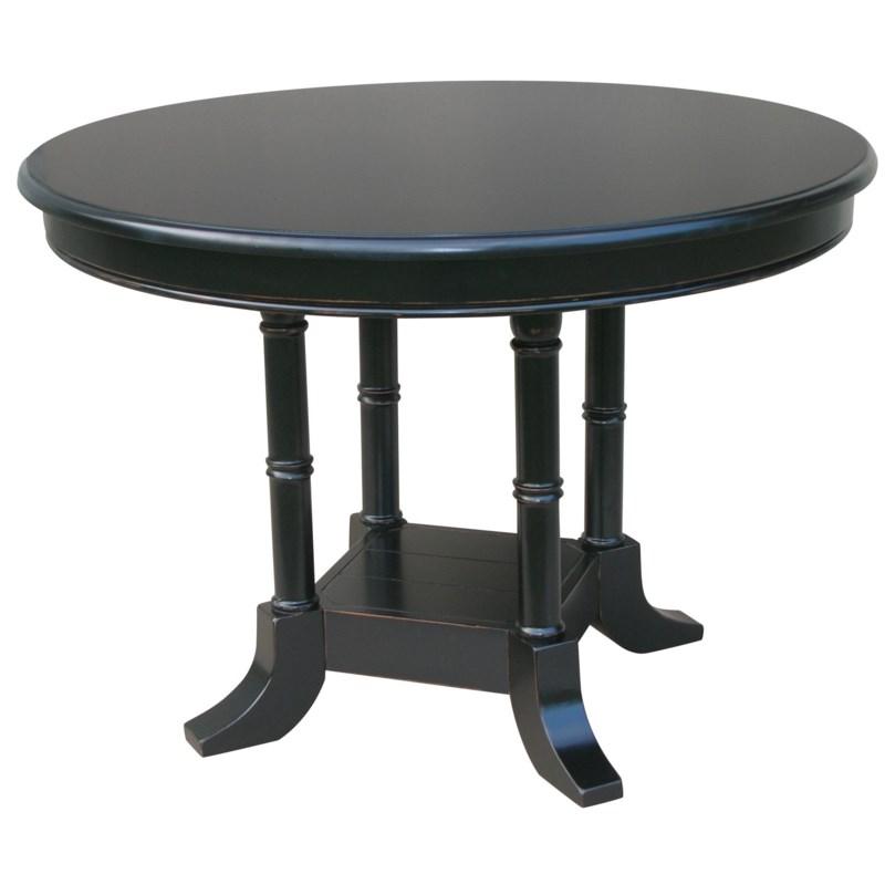 ISLAND BREAKFAST TABLE -  BLK
