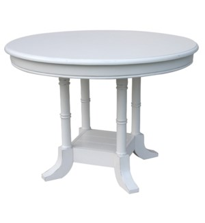ISLAND BREAKFAST TABLE  -  WHT