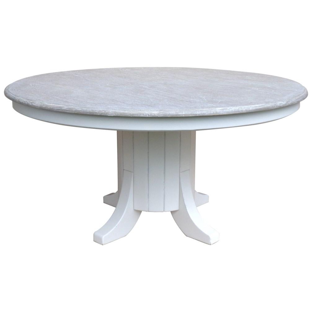 CHARLESSTON DINING TABLE - WHT/RW+