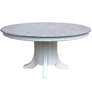 CHARLESSTON DINING TABLE - WHT/RW+