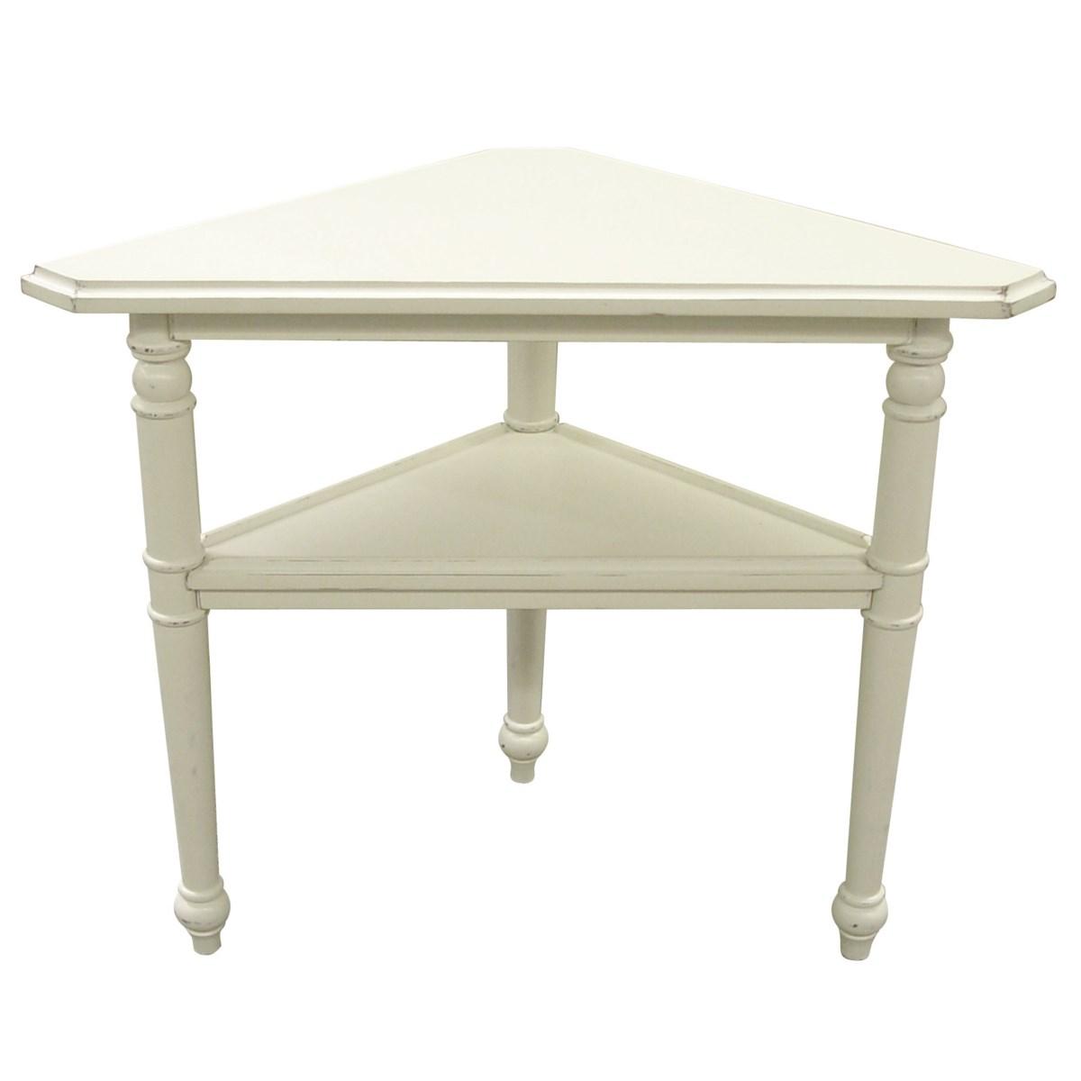 PROVENCE TRIANGLE TABLE -  WHT