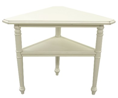 PROVENCE TRIANGLE TABLE- WHT