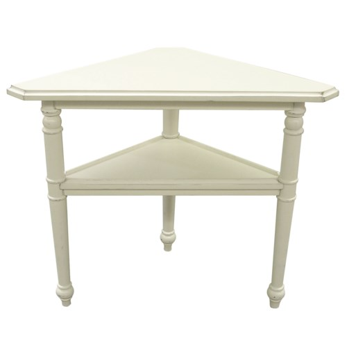PROVENCE TRIANGLE TABLE -  WHT