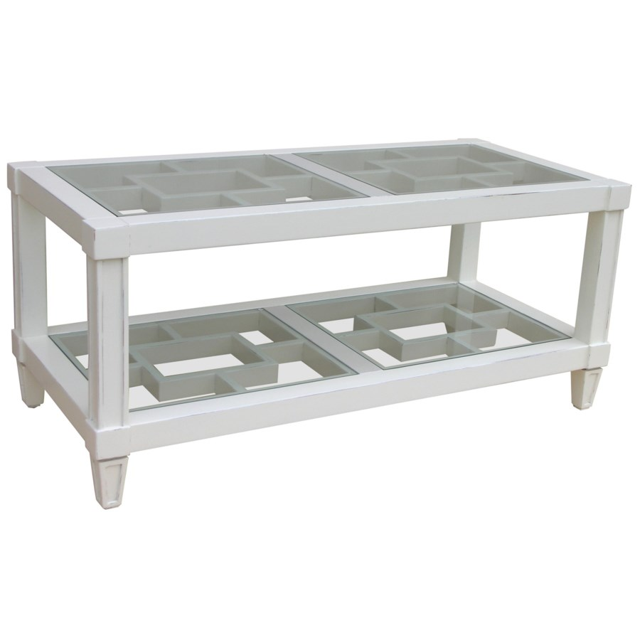 SANIBEL COFFEE TABLE - WHT