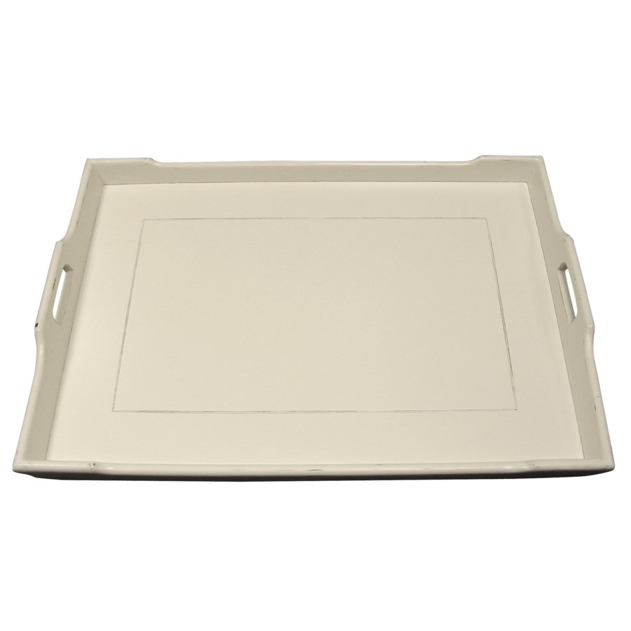 CHEDI SERVING TRAY - WHT