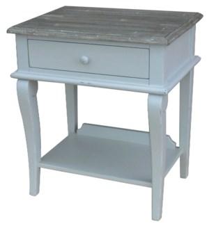 SCROLL SIDE TABLE- GRY/RW+