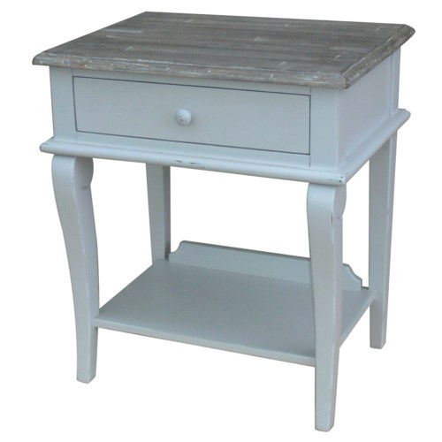 SCROLL SIDE TABLE- GRY/RW+
