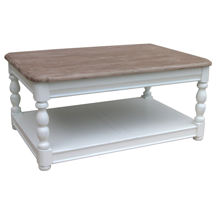 NEWPORT RECTANGLE COFFEE TABLE - WHT/RW+