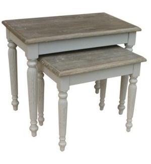 RAFFLES NESTING TABLES - GRY/RW+