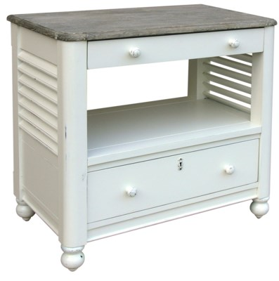 NEWPORT DESK CHEST - WHT/RW+
