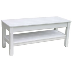 COTTAGE PLANK TWIN BENCH  - WHT