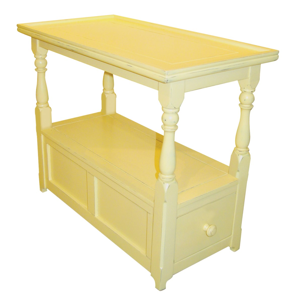 COTTAGE CHAIR SIDE TABLE-  YLW