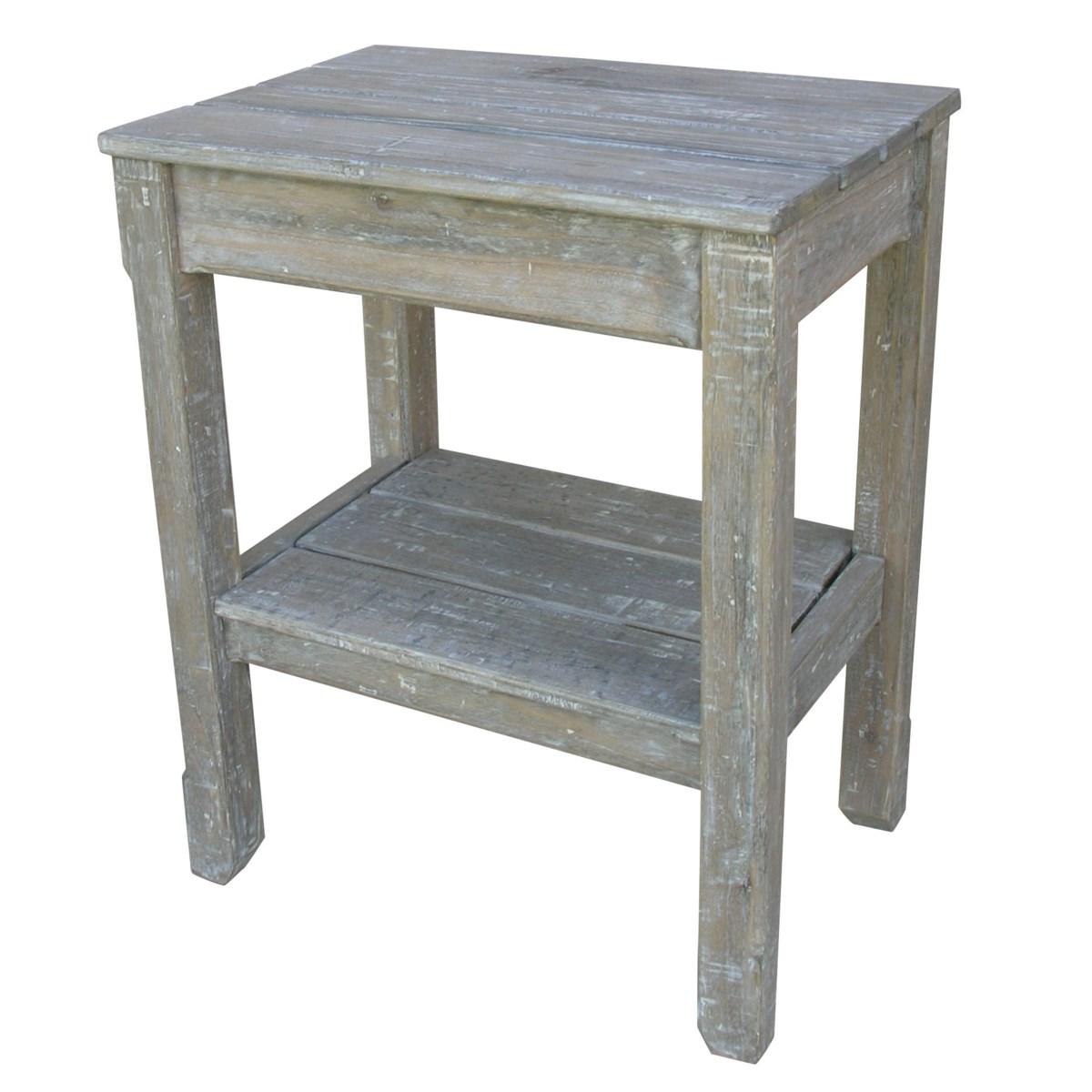 COTTAGE PLNK SIDE TABLE - RW+