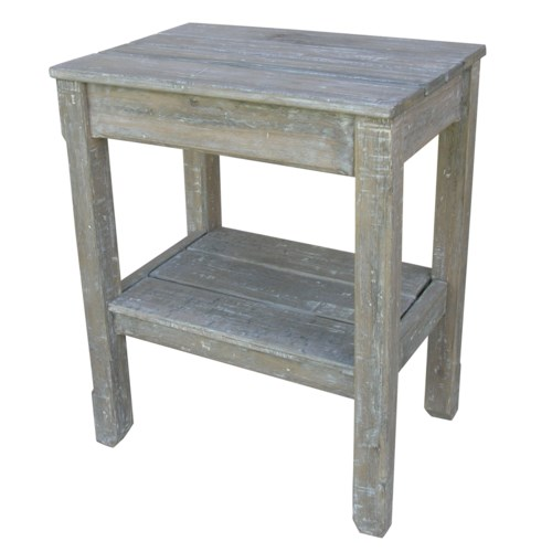 COTTAGE PLNK SIDE TABLE - RW+